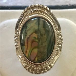 Jewelry - Big and Bold Abalone Ring in Heavy Sterling Silver
